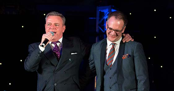 Charles Hanson Charity Auctioner and Suggs from Madness