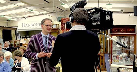 Charles Hanson filming Bargain Hunt