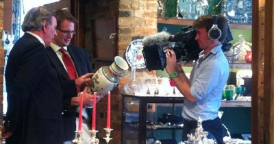 Charles Hanson filming with Sir Terry Wogan